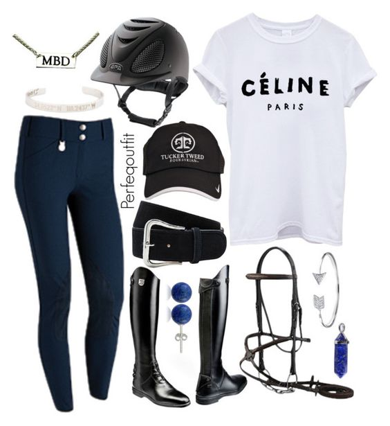 """Blue, white, black"" by ponylover42 ❤ liked on Polyvore featuring Lord & Taylor and Bling Jewelry"