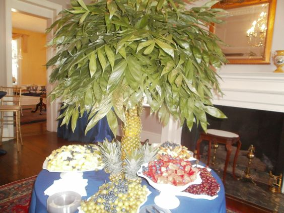 Fruit table at a wedding reception at the Stewart-Parker House.