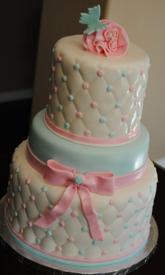 Fondant cake designs, Gender reveal and Cake designs on ...