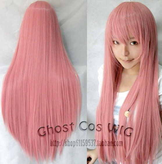 60cm 80cm 100cm Long Straight Cosplay Fashion Wig Party Hair Heat Resistant Wig Hairstyles Straight Hairstyles Party Hairstyles