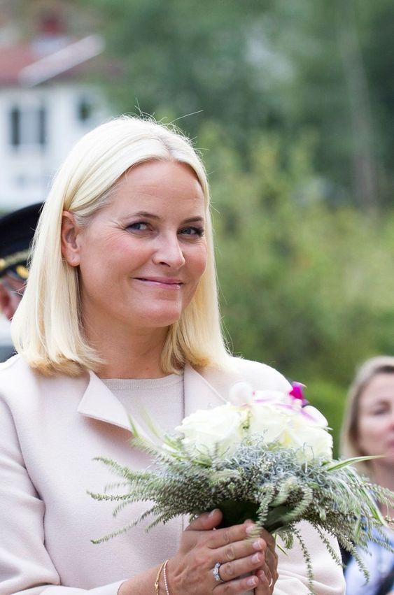 La princesse Mette-Marit de Norvège à Notteroy, le 5 septembre 2018