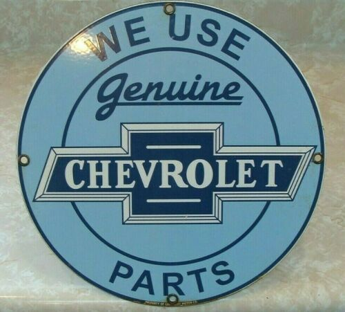 Vintage Gm Chevrolet Chevy Truck Genuine Motor Parts Porcelain