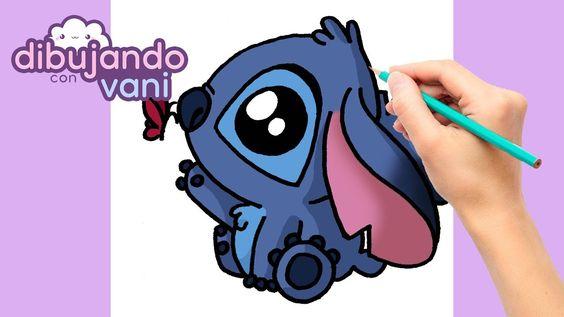 Como Dibujar A Stitch Paso A Paso Dibujos Faciles Kawaii Como Dibujar A Stitch Como Dibujar Facil Como Dibujar A Stich