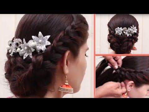 Easy Different Party Hairstyle For Medium Length Hair Styles For Girls Hair Style Videos 2017 Youtu Medium Length Hair Styles Party Hairstyles Hair Lengths