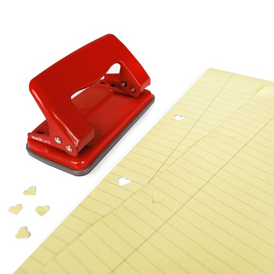 Heart Hole Punch, I always need one of these for college organization and this is sure a cute way to do it :)