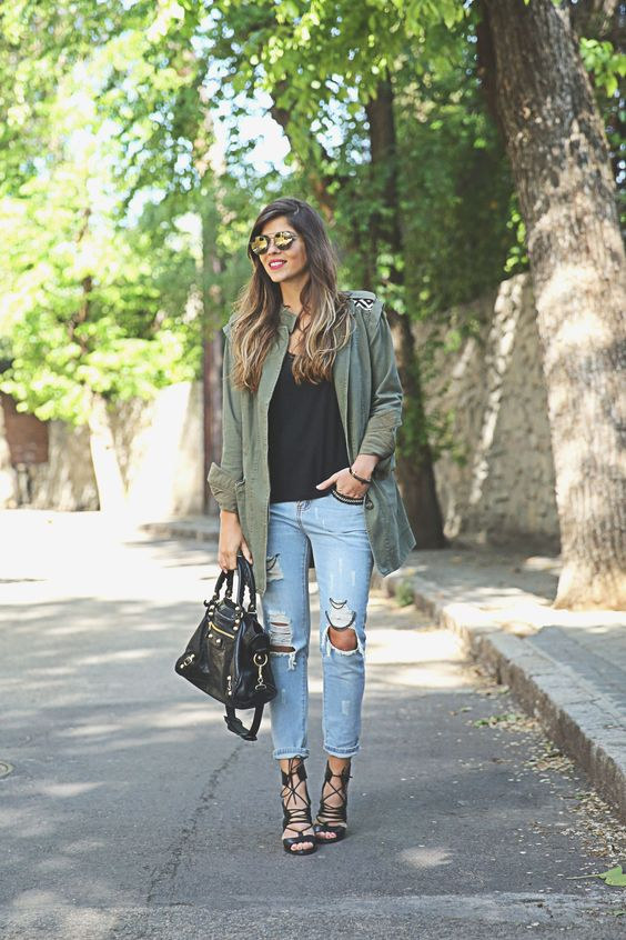 Trendy Taste     Parka and Jeans