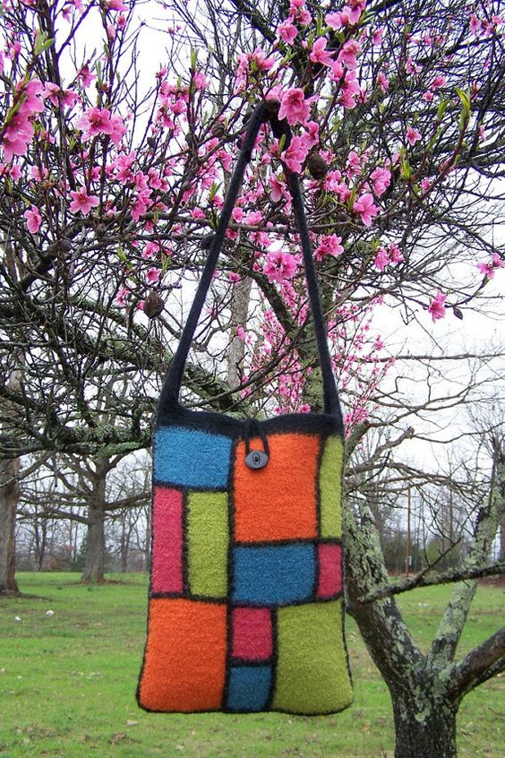 Beautiful Felted Wool Bag