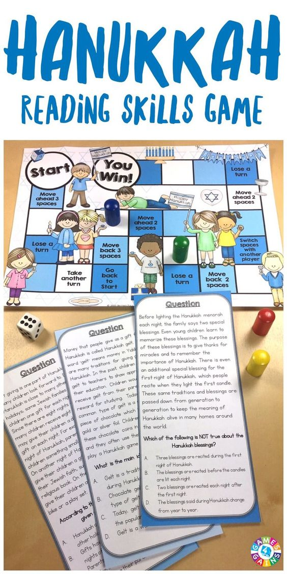 This game is EXCELLENT for teaching students about important Hanukkah traditions and symbols! With this Hanukkah Reading Game, students will learn all about the celebration of Hanukkah while practicing main idea, sequence, author's purpose, inferences, fact and opinion, and much more!