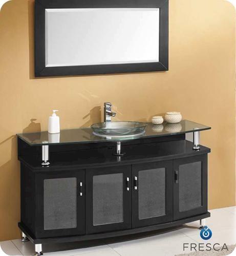 Contento 55 Espresso Modern Bathroom Vanity w/ Mirror at Menards