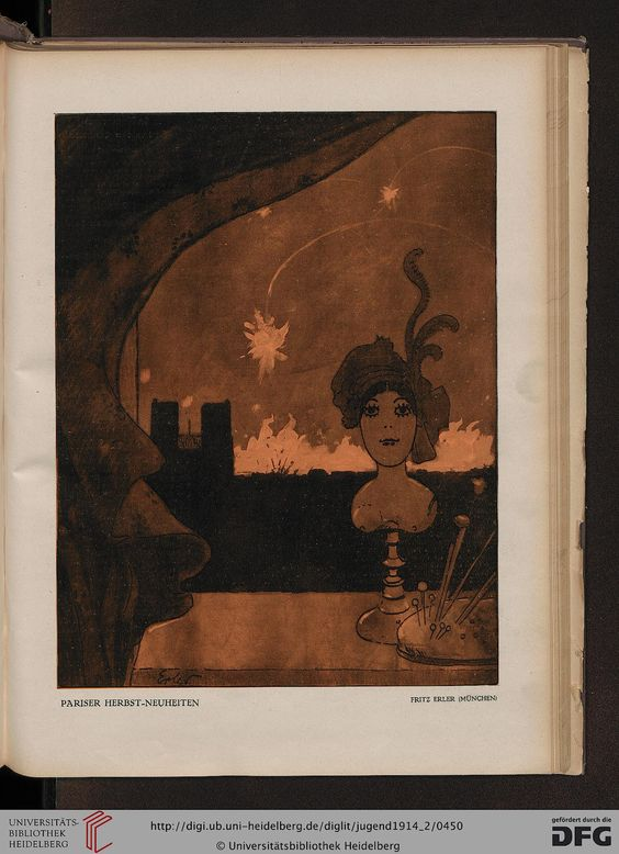 Jugend, German illustrated weekly magazine for art and life, Volume 19.2, 1914.
