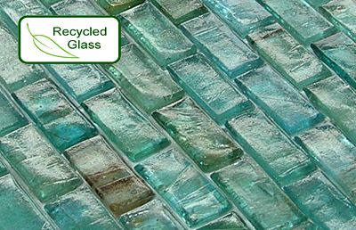 recycled glass mosaic tile only sqft backsplash
