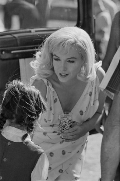 "Marilyn Monroe on the set of ""The Misfits"", 1960."