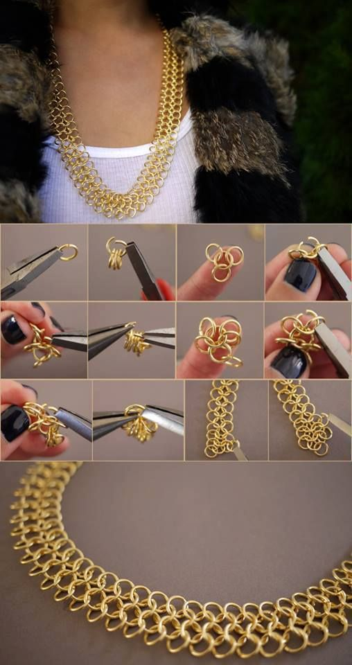 Diy chainmail necklace I love doing chaine mail - you can take classes to learn how to do this at http://www.jewelrydesigncenter.biz: