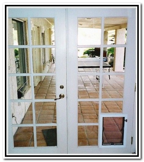 Joyful french patio doors dog for the home pinterest for French door with dog door