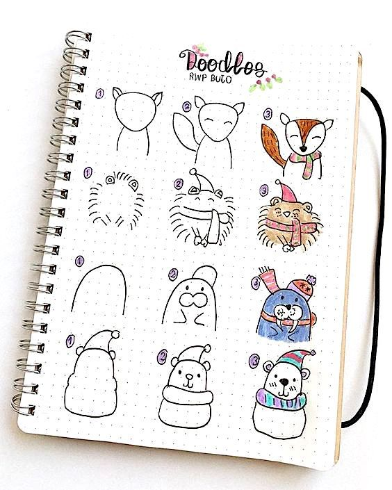 Step By Step Guide How To Draw Winter Animals By Ig Erena Study