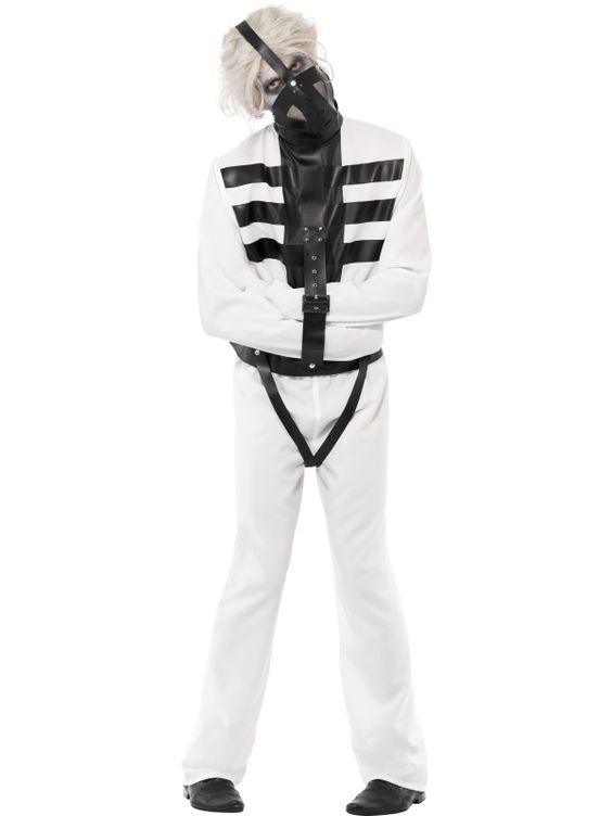 Snake Pit Straitjacket Costume, White, Jacket with Wrap Around ...
