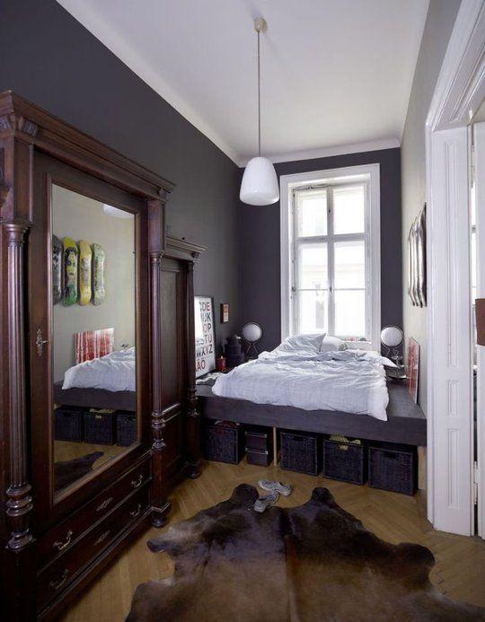 Ideas To Steal From The Narrowest Of Bedrooms | Møbler, Terapi Og  Lejligheder Part 86