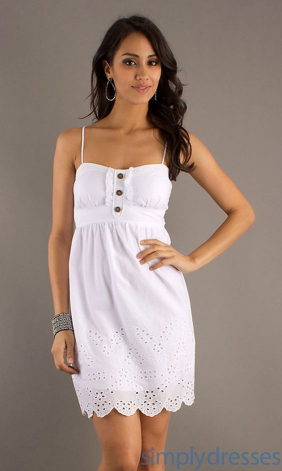 Dresses- Formal- Prom Dresses- Evening Wear: Short White Casual ...