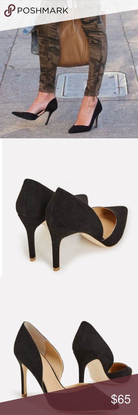 The Classy Suede Pumps Keep it classy with Latia. She's got the timeless look of a pump with the added style of a d-Orsay. You'll never get tired of this versatile faux suede heel!  NEW IN THE BOX! NO OFFERS NO TRADES PRICE IS FIRM Shoes Heels