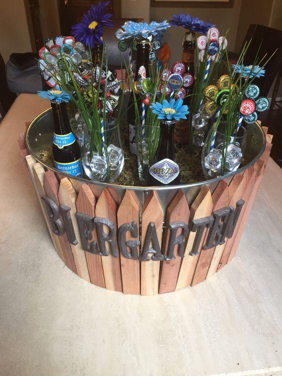 biergarten gift basket basteln pinterest pr sentk rbe geschenke und k rbe. Black Bedroom Furniture Sets. Home Design Ideas