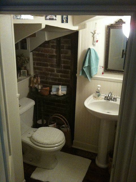 Bathroom under the stairs flickr photo sharing for Bathroom designs under stairs