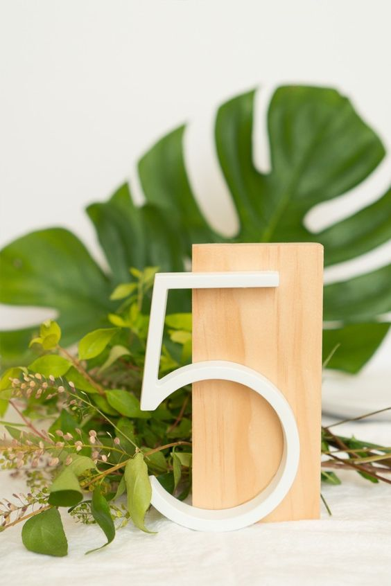 DIY Modern Table Numbers for Weddings | ctrl + curate
