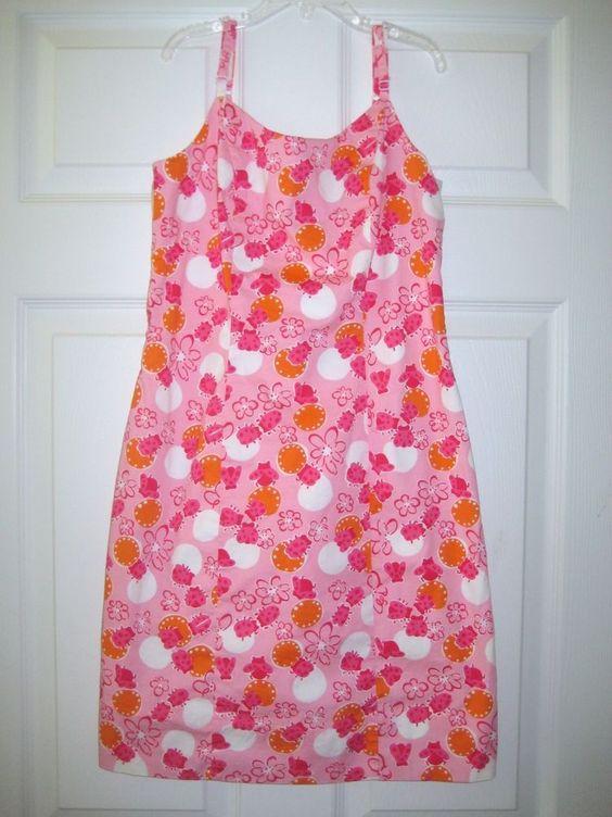 Lilly Pulitzer 0 Pink Bocci Ladybug Dress Cruise Beach Resort Bee Spring Break #LillyPulitzer #Shift