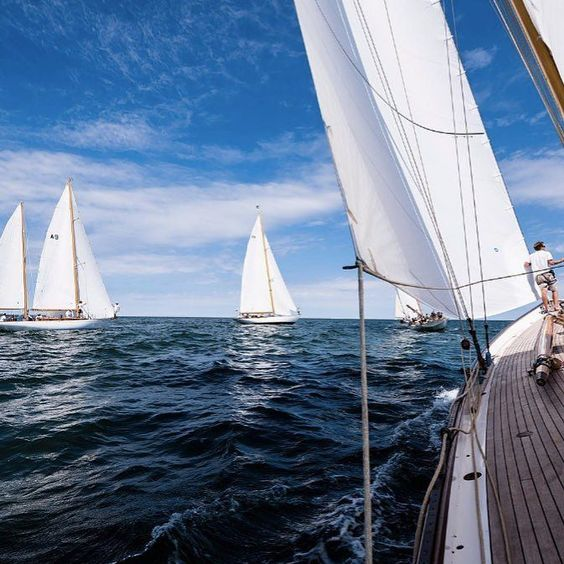 Classic sailing vessels speckled the coast of Newport during the last leg of a 3-day regatta for the North American Circuit. @panerai . . . . . #Water #Waters #SpeedBoat #Boat #Boats #Nantucket #SailBoat #SailBoats #PCYC #Sail #Beach #Relax #Yacht #DotLuxury #Luxury #Luxurious #Boating #Panerai #Vacation #ClassicSailing