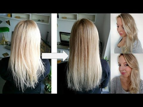 Diy Balayage Ombre Smudge Roots On Blonde Hair In 2019