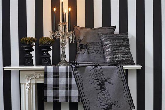schwarz und weiß - Stoffe von Apelt