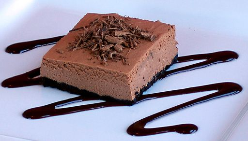 Chocolate Cheesecake Squares #vegan