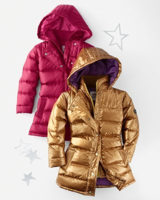 On sale, couldn't resist, another year, so cute in cranberry, kid-approved: Long Down Coat by Appaman - Girls