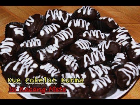 Cara Membuat Kue Cokelat Kurma Isi Kacang Mete Enak Dan Praktis Ala Zasanah Youtube Kue Cokelat Kue Makanan