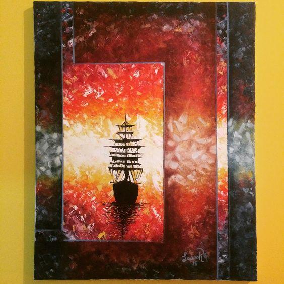"""By Me / """"buscando la luz"""" / óleo"""