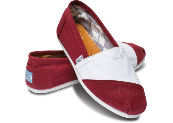 Well, they say GARNET... but it could pass as maroon and white, right? :)   Garnet and White Women's Classics