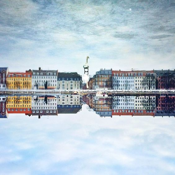 Photo from Copenhagen by Kenneth Nguyen. Please study this picture closely. Try turning it up side down. Nothing was manipulated. Love the colors from a frosty day in my hometown. Find more wonderful pictures from this tallented artist at http://instagram.com/kennethnguyen