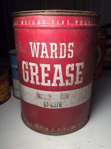 Vintage Wards Grease 5 lbs Tin Can Pressure Gun Montgomery T1758 Advertising Old | eBay