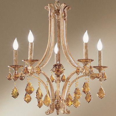 Classic Lighting Mediterranean 5-Light Crystal Chandelier
