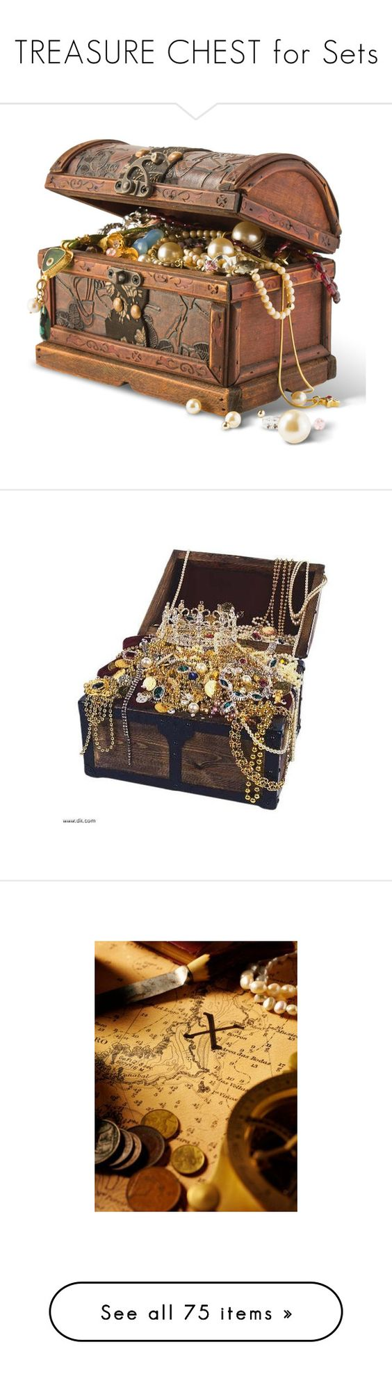 Treasure Chest Decorations Treasure Chest For Sets By Tornpaperco On Polyvore Featuring
