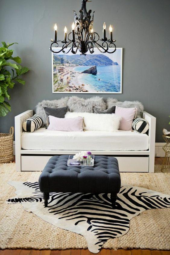murs gris tapis en rotin tapis salon pas cher tapis zebre ikea