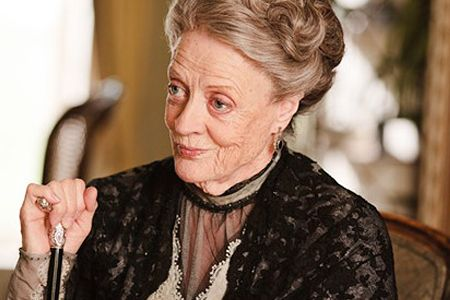 Maggie Smith. When I watch Downton Abbey all I can see is Professor McGonagall.