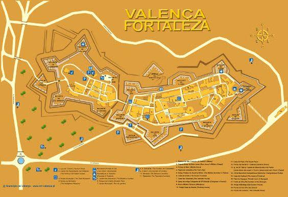 Mapa de tiendas de A Fortaleza de Valeça do Miño #Portugal