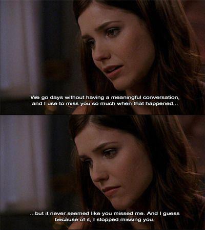 The most devastating breakup scene of tv history. Yea. This soooo broke my heart. I was always such a brucas shipper.