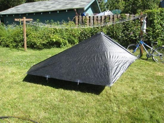 Diy Tarp Shape Backpacking Light Ultralight Tent Light Backpack Outdoor
