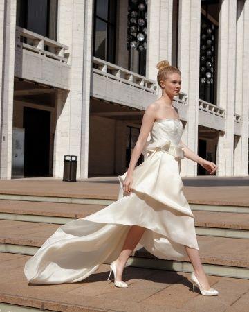 Lincoln Center// wedding dress/ Modern Wedding Dresses - Martha Stewart Weddings Fashion & Beauty