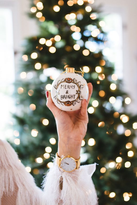 Image Via: Devon Rachel featuring the Ceramic Cheer Ornament #Anthropologie