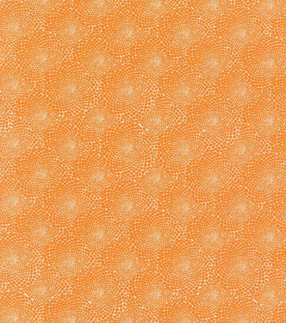 Valori Wells Cotton Fabric-Flower Dots Tangerine