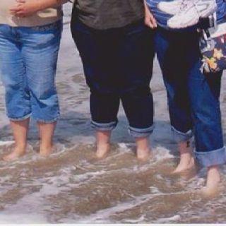Our feet in the Atlantic Ocean. Virginia beach