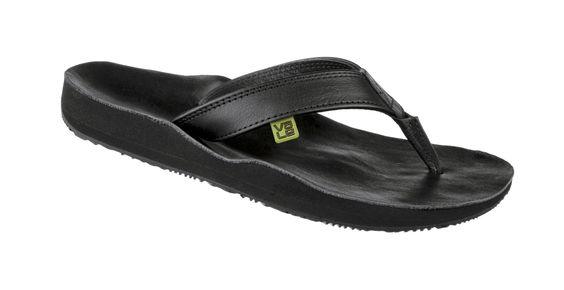 myVALE Flip Flop Zehensandale Damen - Modell Black Mamba Basic women schwarz mit individuellen Fußbett nach Fußabdruck handmade thong - made in Germany