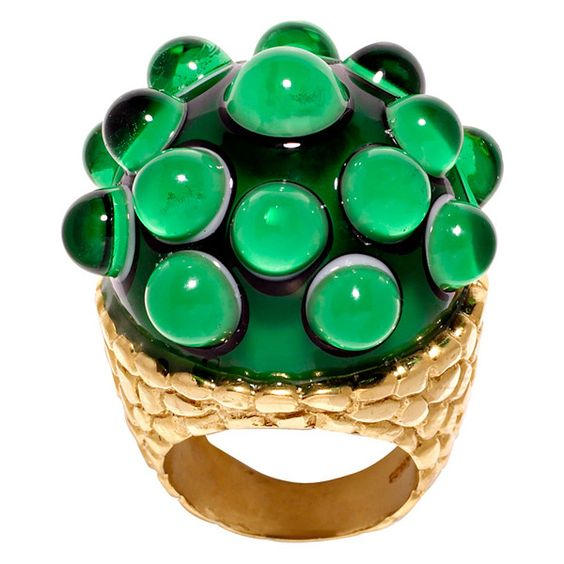 Legge & Braine Emerald Green Medusa Ring